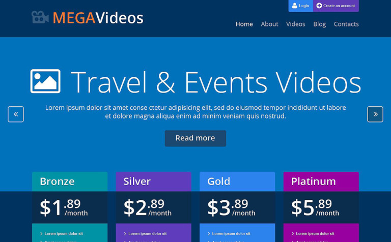 Video Services WordPress Theme