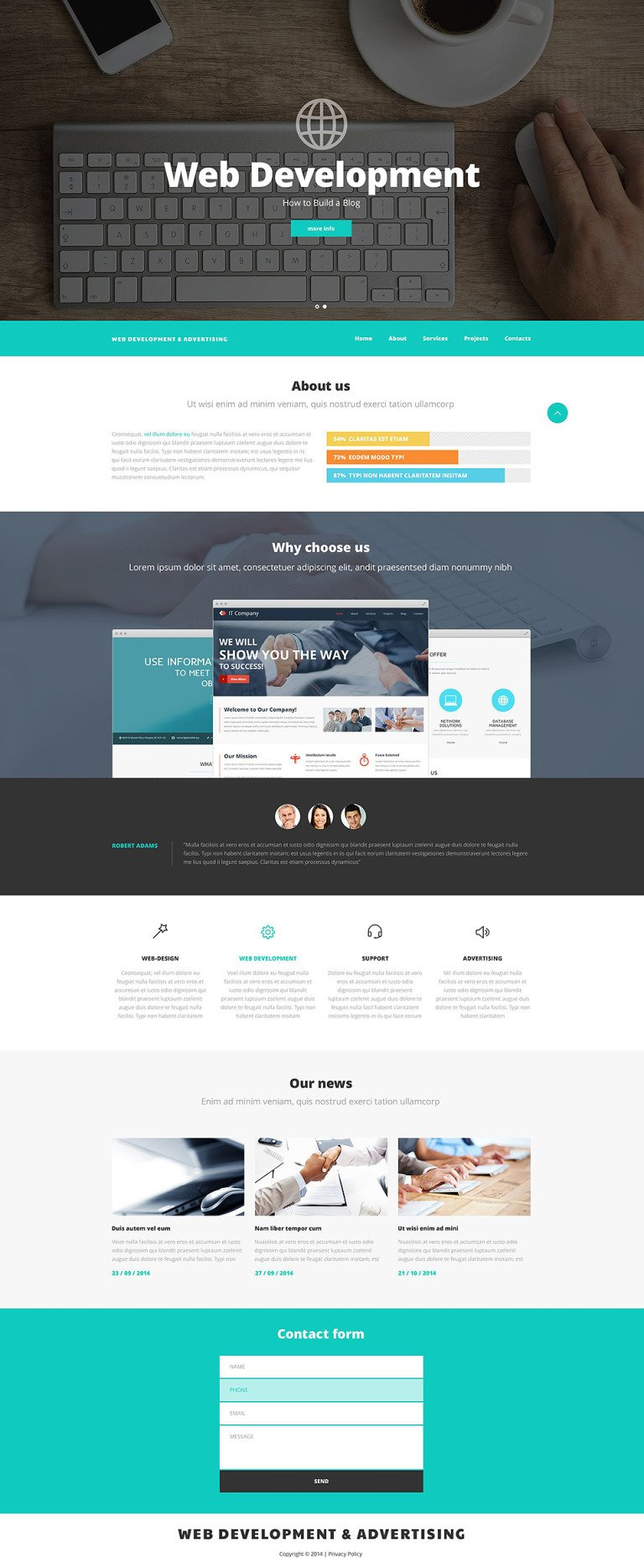 Web Design and Advertising Website Template New Screenshots BIG