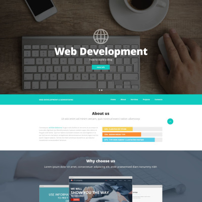 web development website themes with parallax scrolling effect