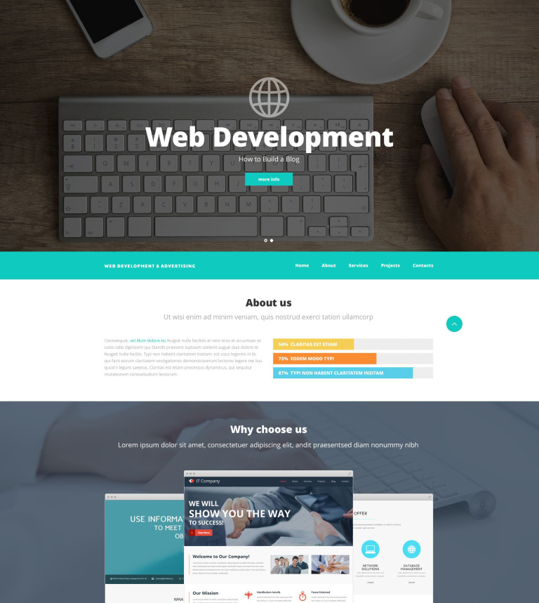 Web Design And Advertising Website Template New Screenshots