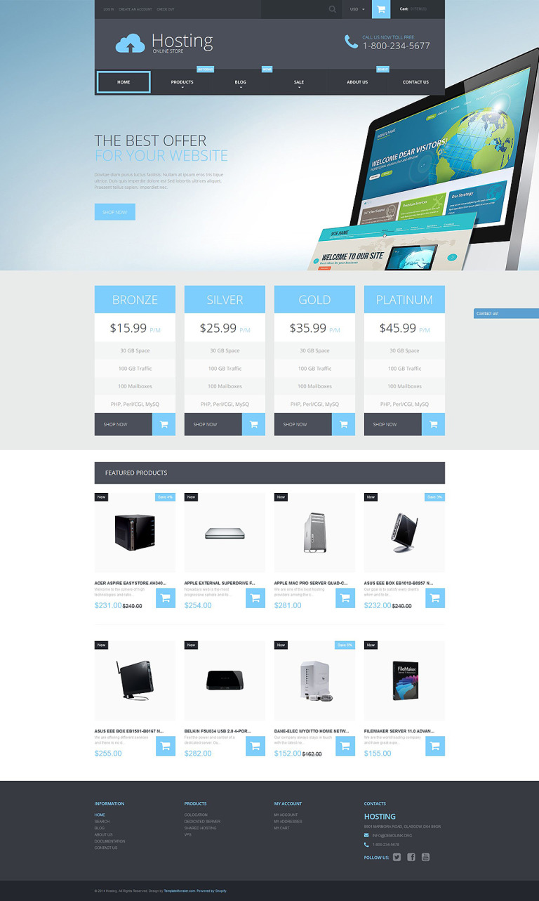 Web Hosting Services Shopify Theme New Screenshots BIG