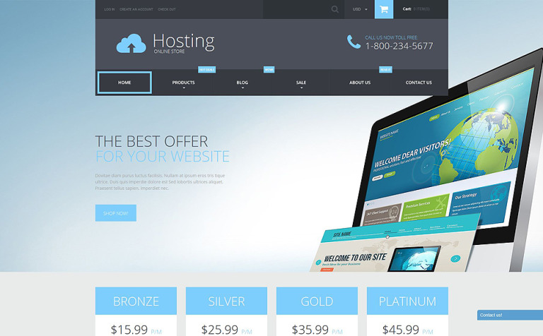 Web Hosting Services Shopify Theme