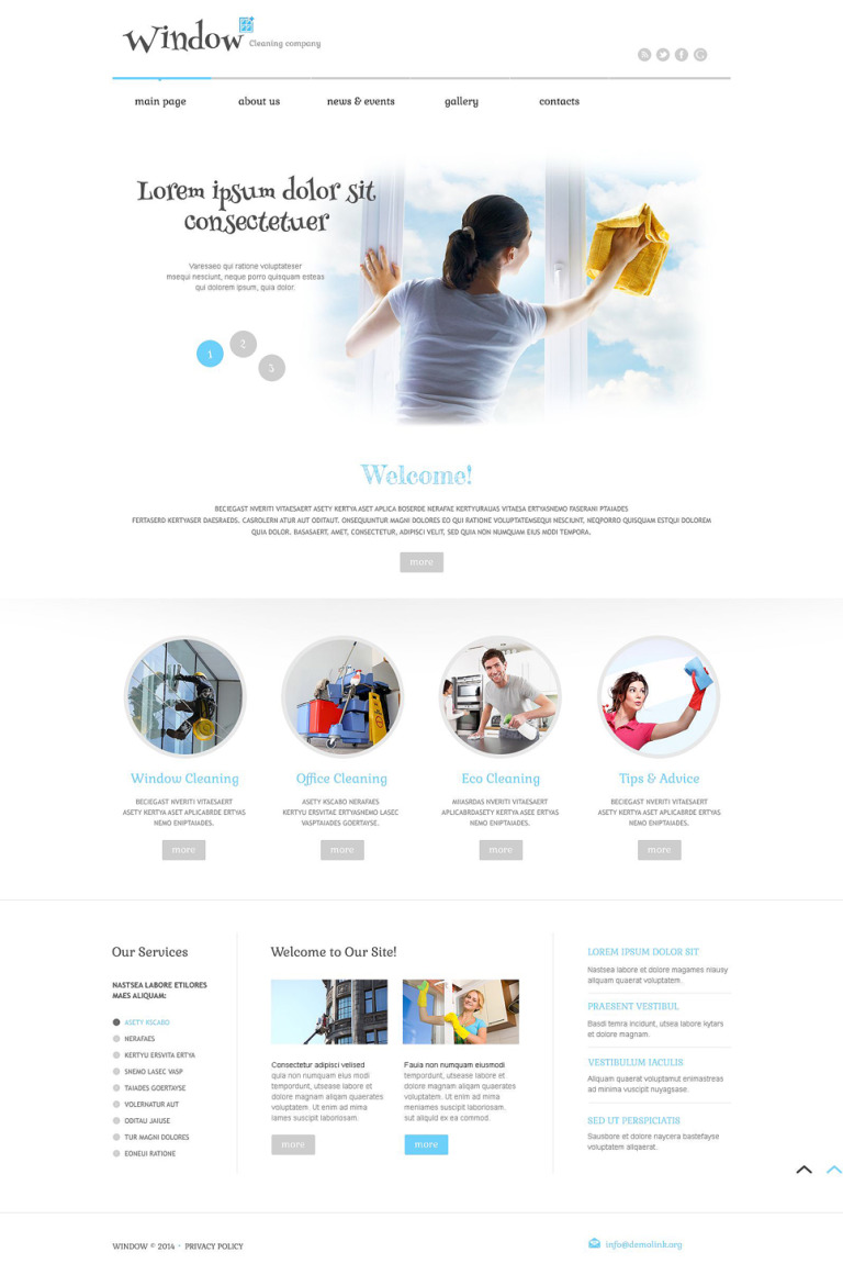 Window Cleaning Responsive WordPress Theme New Screenshots BIG