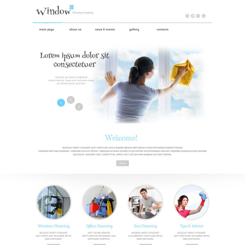 Window Cleaning Company - WordPress Template based on Bootstrap