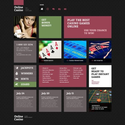 Responsives WordPress Theme für Online Poker