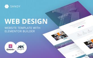 Sandy - Web Design Website Template with Elementor Builder WordPress Theme