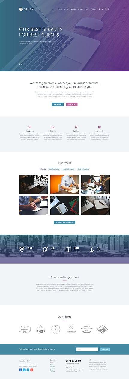 WordPress Theme/Template 52603 Main Page Screenshot