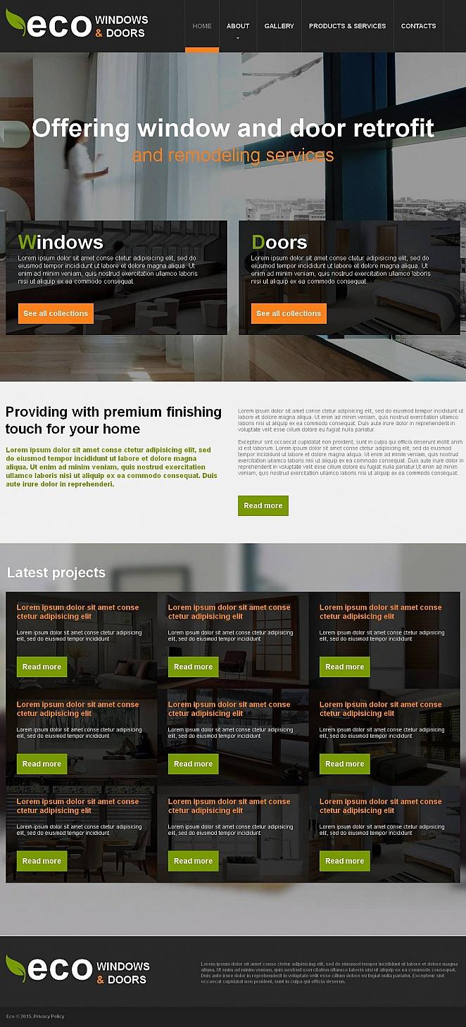 Eco Windows Website Template with Modern Design - image