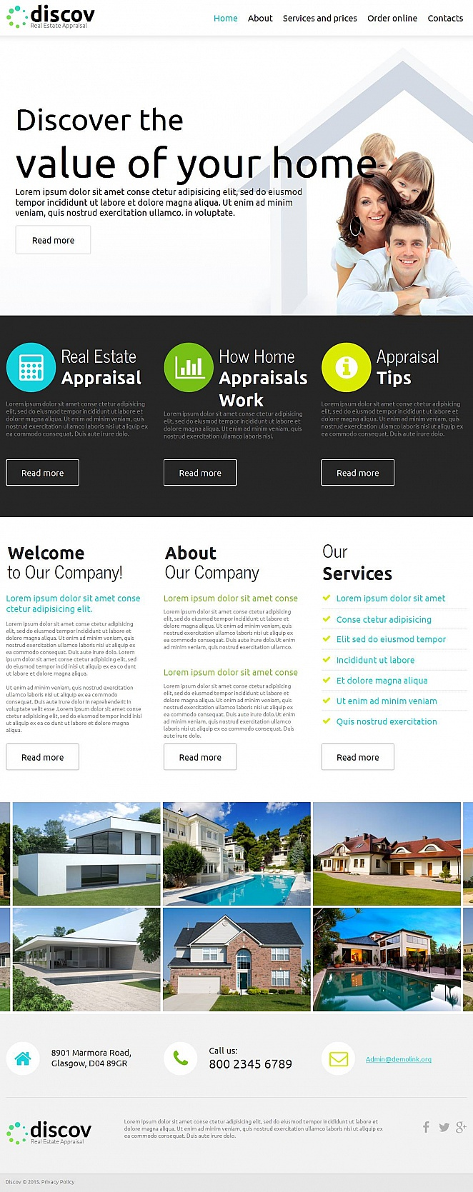 Home Appraisal Website Template - image