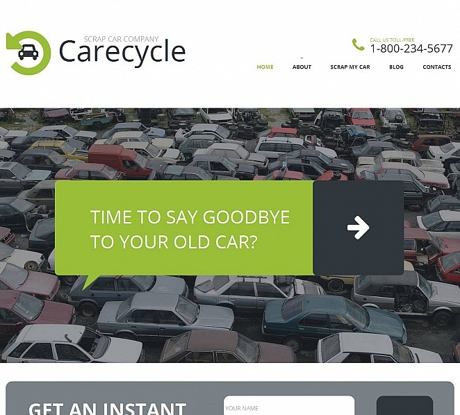 Moto CMS HTML Vorlage für Autoschrottplatz  New Screenshots BIG