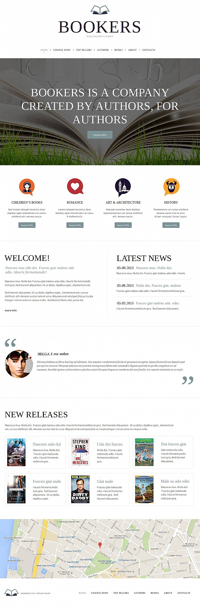 Publishing Company Website Template - image