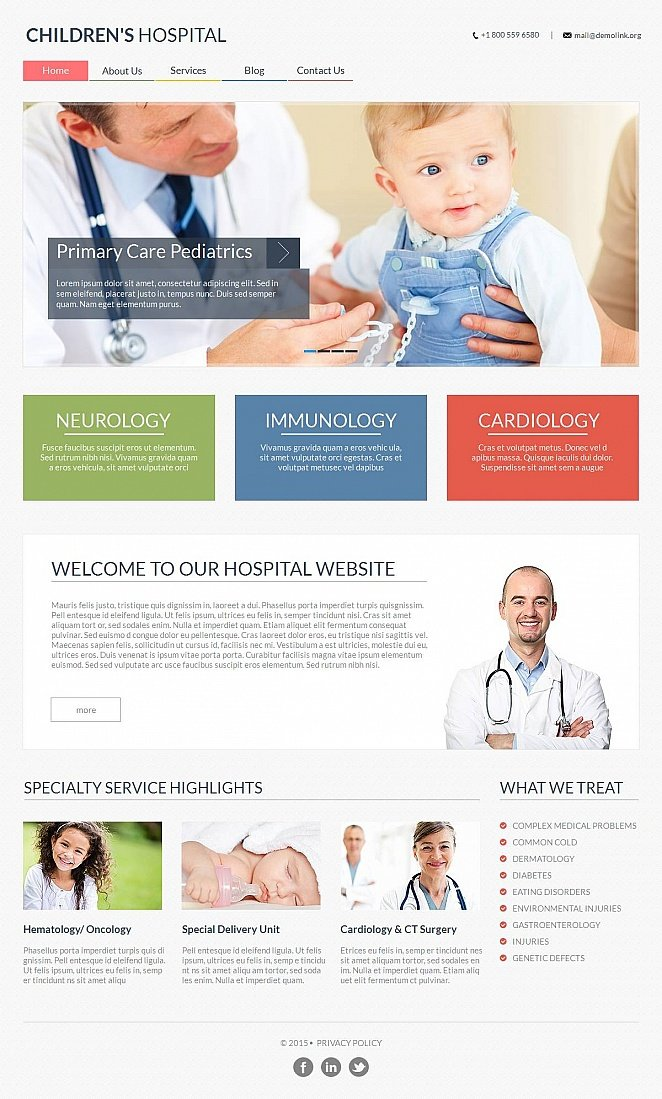 Pediatrics Website Template with a Light-Colored Design - image