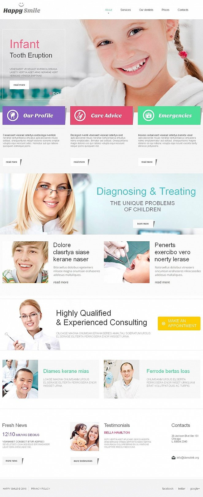 Metro Design Website Template for Dentistry - image