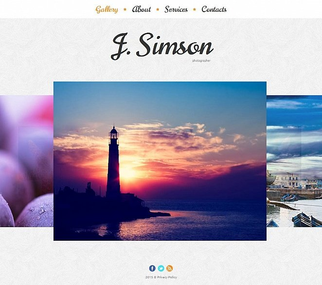Portfolio Template with a Photo Gallery in the Background - image