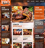 Cafe & Restaurant Moto CMS HTML  Template 52624