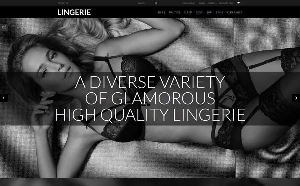 Responsive PrestaShop Thema over Lingerie  New Screenshots BIG