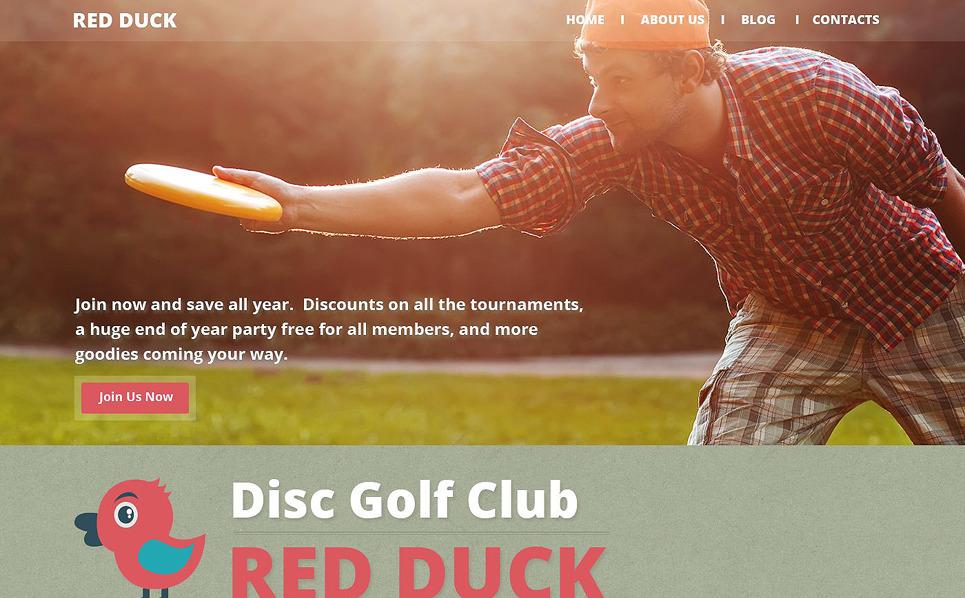 Template Web Flexível para Sites de Golfe №52632 New Screenshots BIG