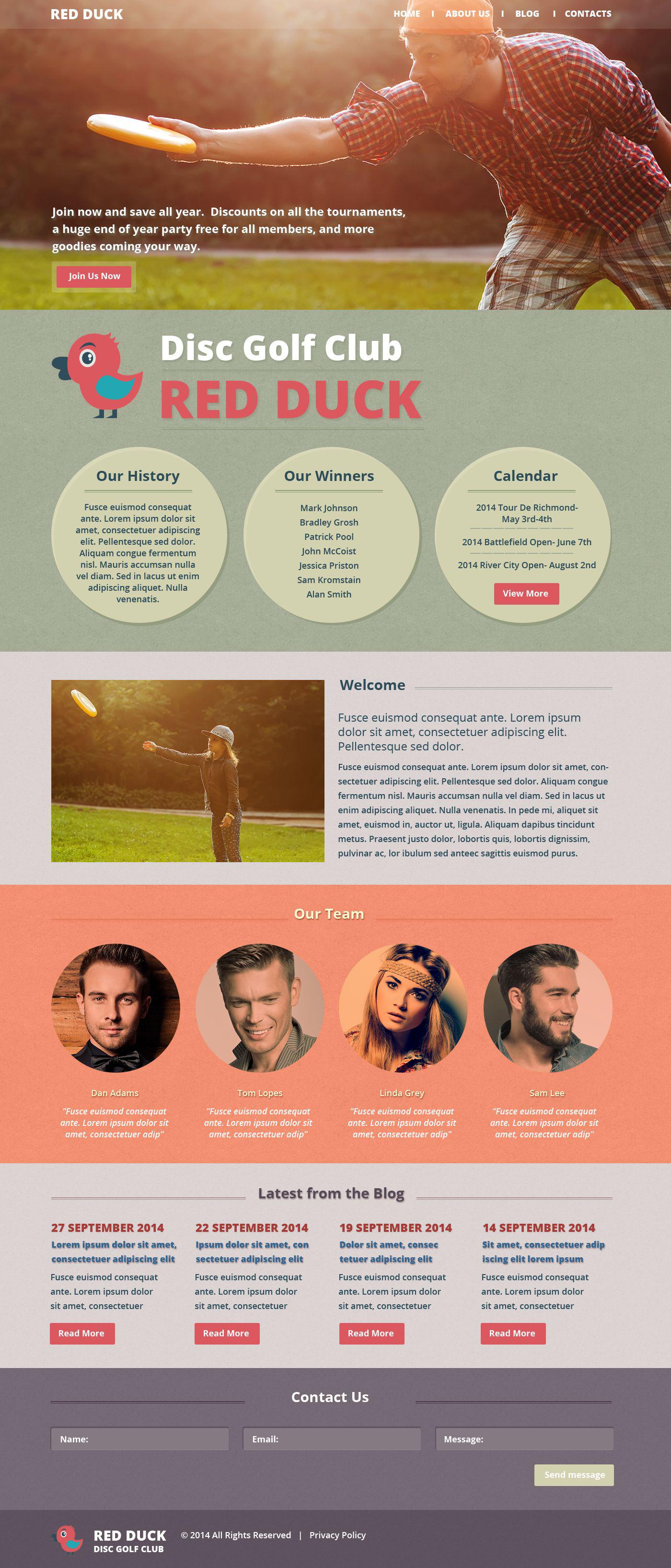 Tema siti web per un sito di golf for Siti web di costruzione domestica