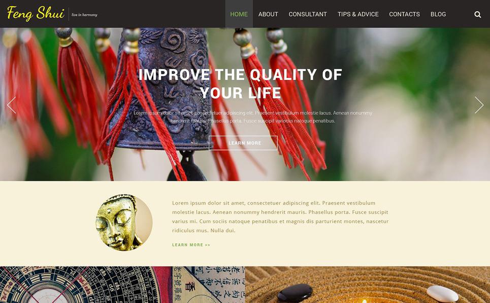 Responsive Feng Shui  Web Sitesi Şablonu New Screenshots BIG