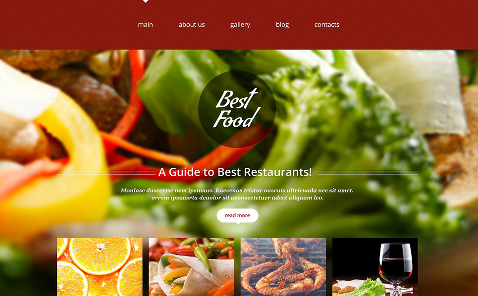 Tema Siti Web Responsive #52650 per Un Sito di Bar e Ristoranti New Screenshots BIG