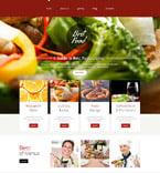 Cafe & Restaurant Website  Template 52650