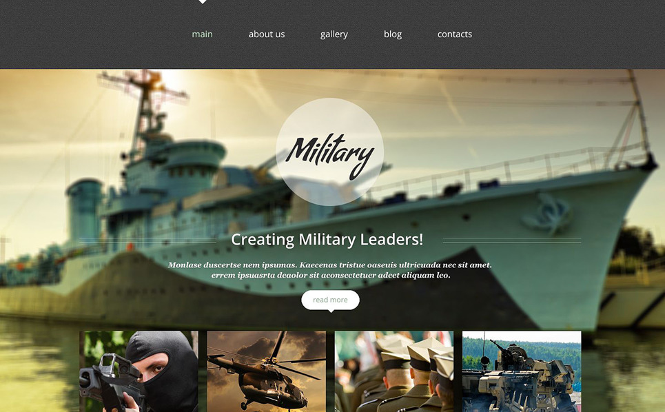 "Template Siti Web Responsive #52651 ""Negozio di Attrezzature Militari"" New Screenshots BIG"