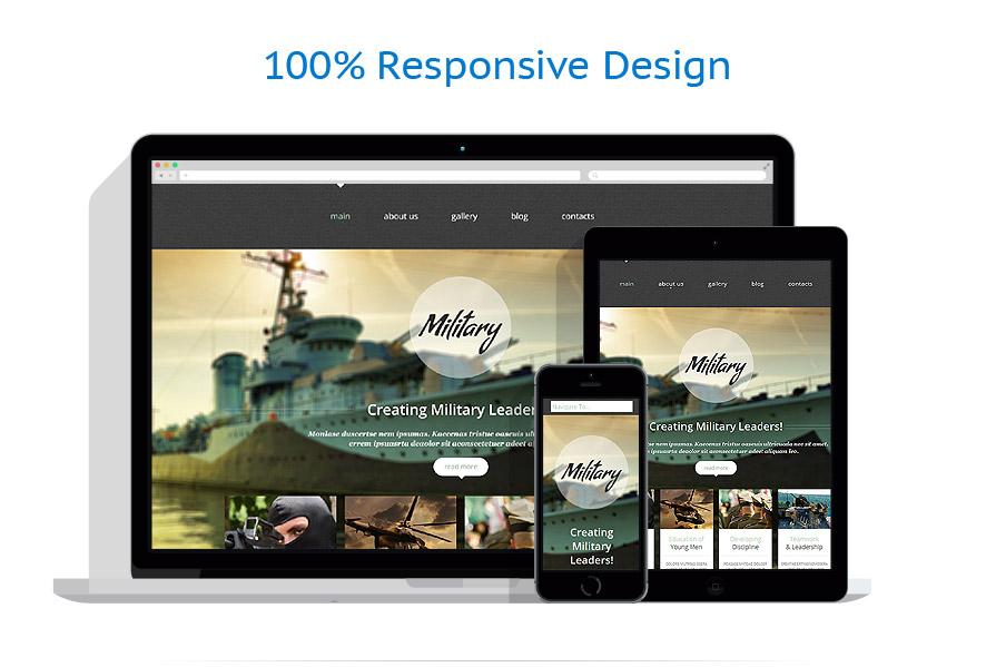 Modèles HTML5 Militaire #52651