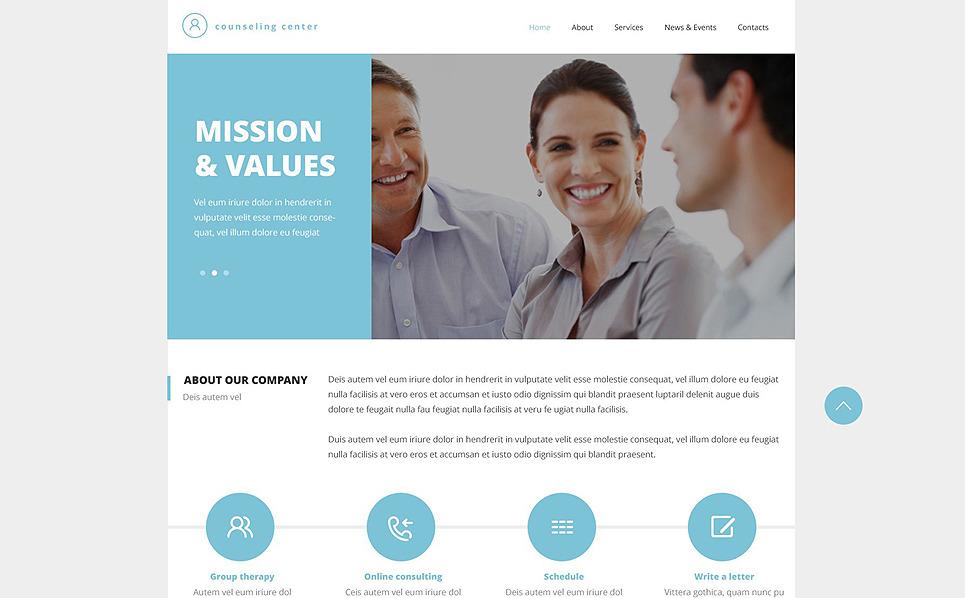 Responzivní Šablona webových stránek na téma Poradenství New Screenshots BIG