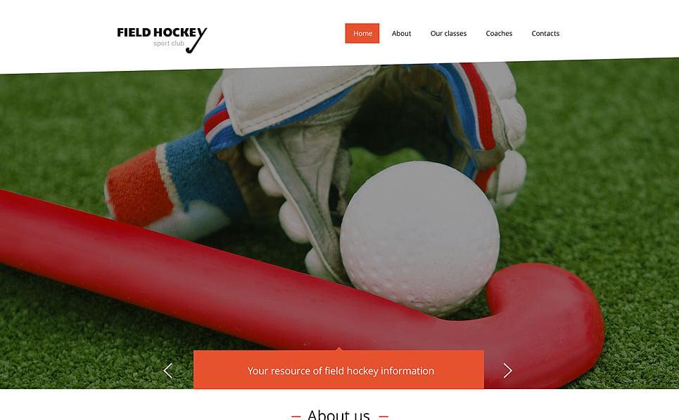 Plantilla Web Responsive para Sitio de Hockey New Screenshots BIG
