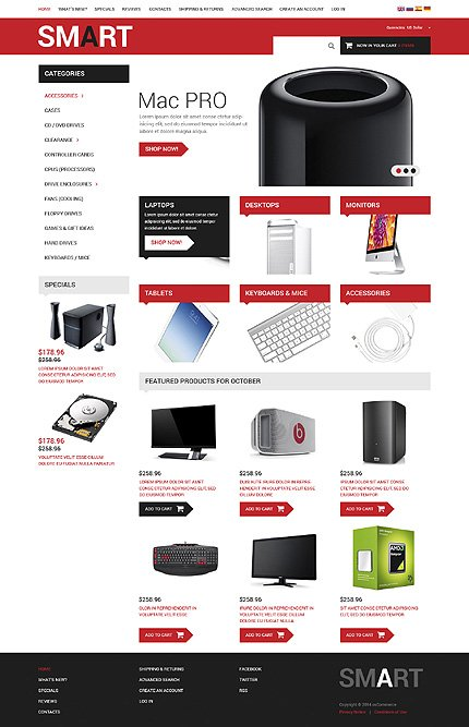 osCommerce Template 52666 Main Page Screenshot