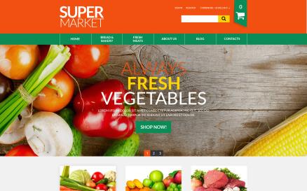 Online Supermarket VirtueMart Template