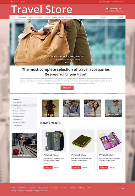 osCommerce Template 52678 Main Page Screenshot