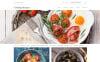 Responsivt Hemsidemall för matlagning New Screenshots BIG