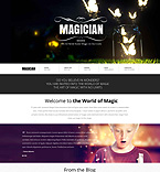 Entertainment Website  Template 52685