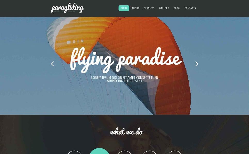Responsive Website template over Parapente  New Screenshots BIG