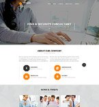 Security Website  Template 52687
