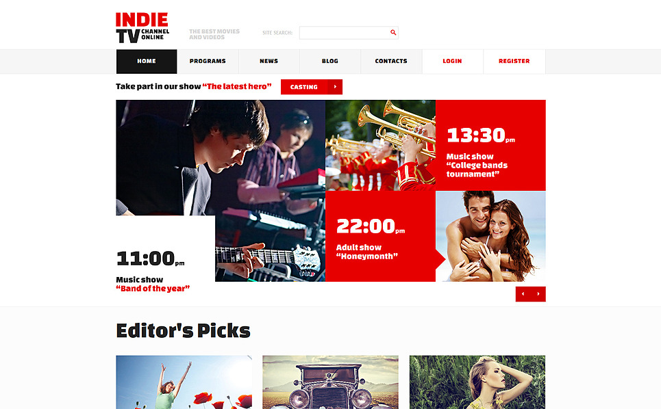 Responsive Joomla Template over Tv-zender  New Screenshots BIG
