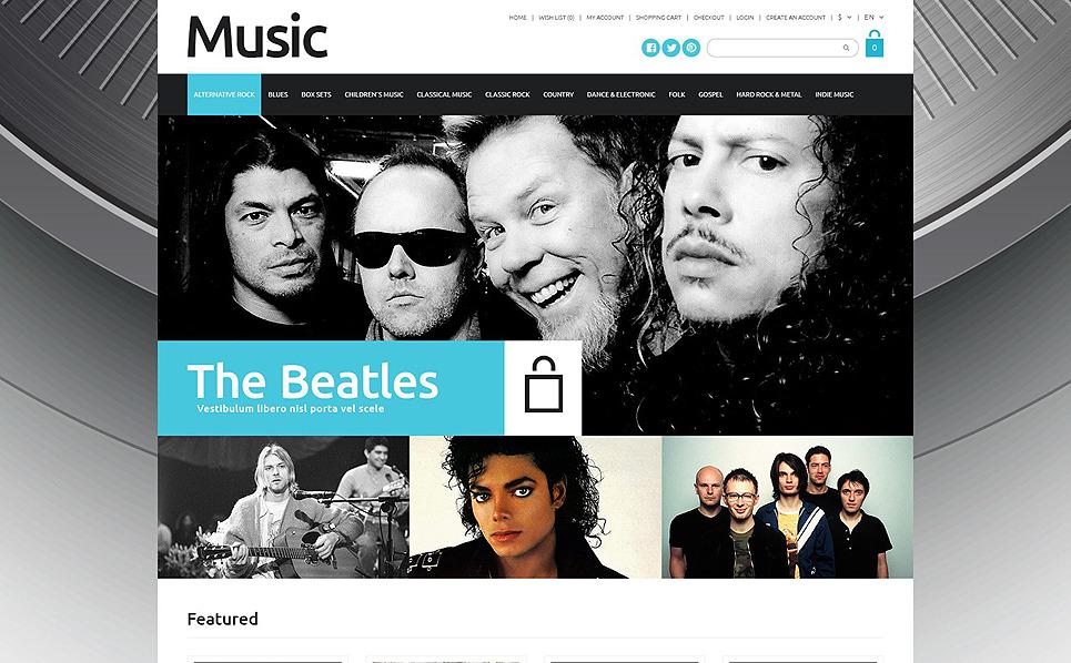 Responsive Müzik Mağazası  Opencart Şablon New Screenshots BIG