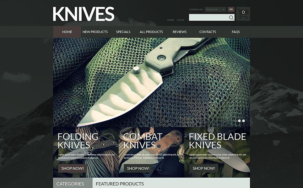 ZenCart Vorlage für Waffengeschäft  New Screenshots BIG