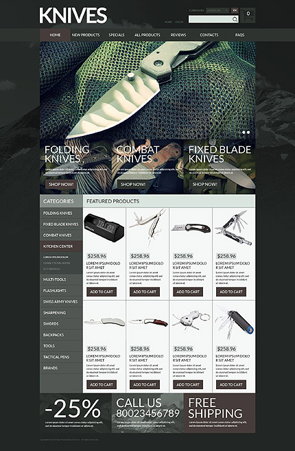 ZenCart Template 52697 Main Page Screenshot