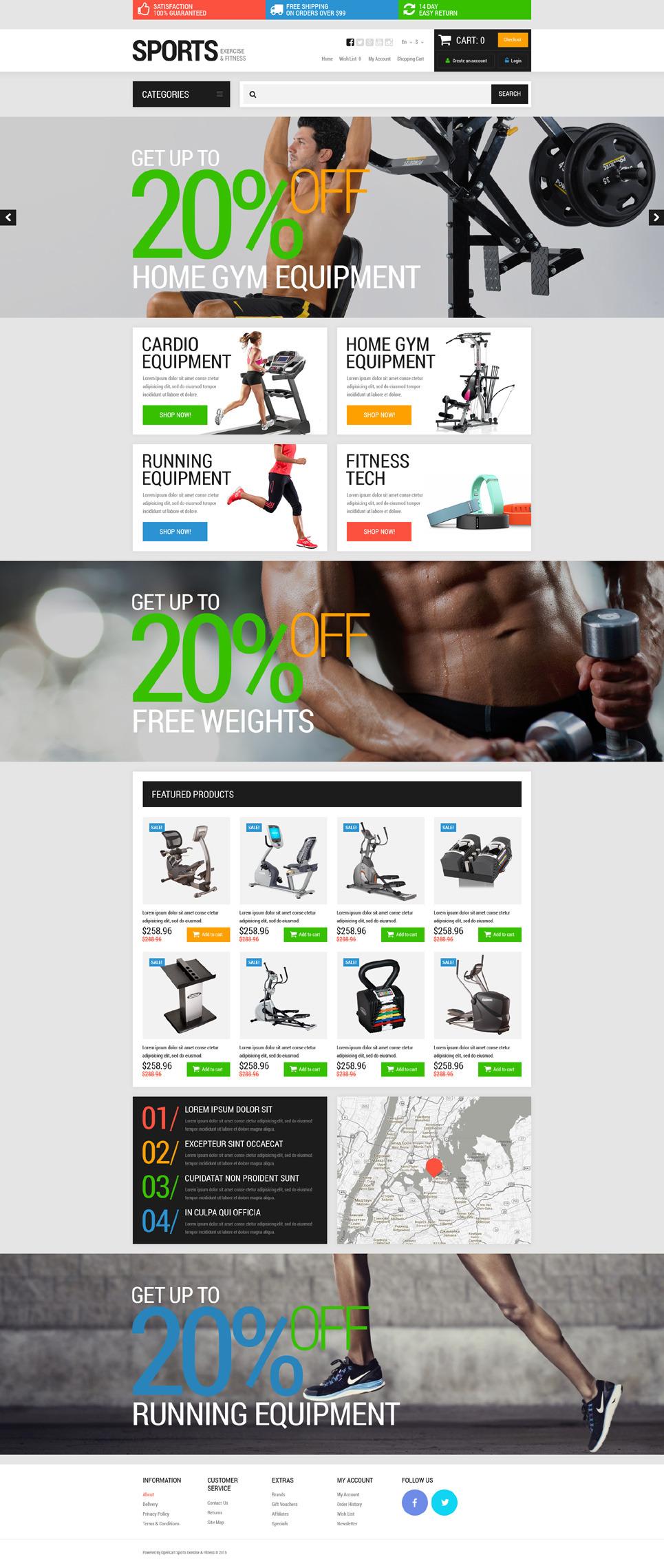 Active Sports Store OpenCart Template New Screenshots BIG