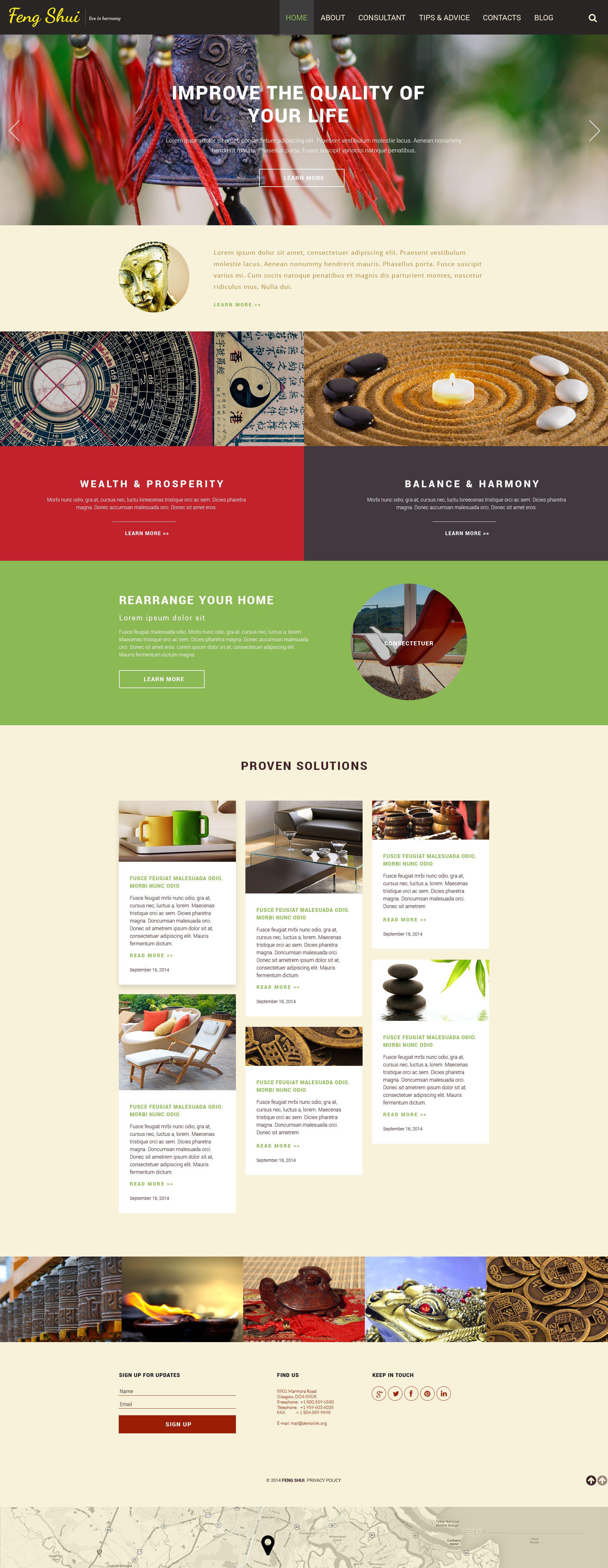 Адаптивний Шаблон сайту на тему фен-шуй №52633 - скріншот