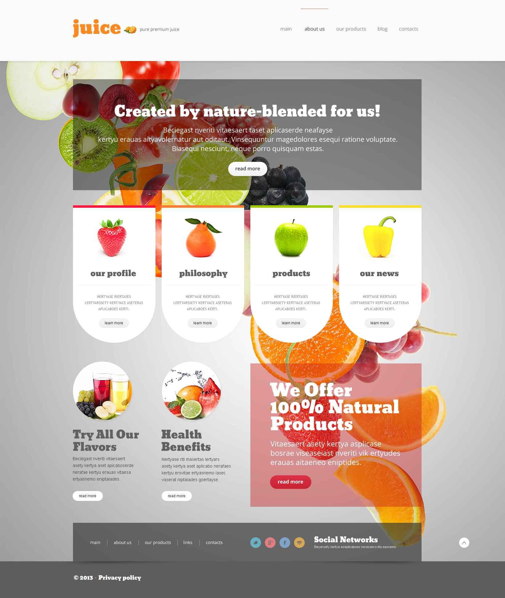 Адаптивний WordPress шаблон на тему їжа №52695