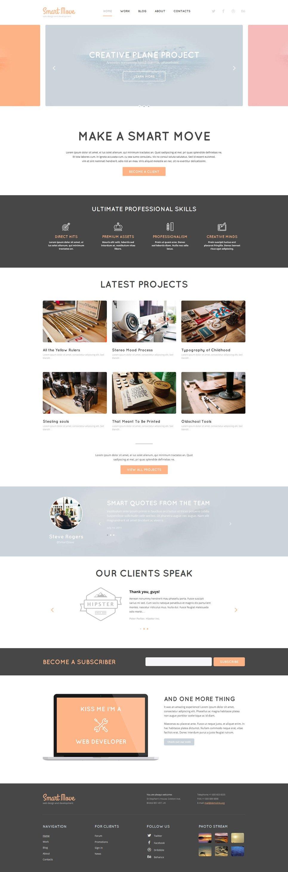 Адаптивный шаблон сайта на тему веб-дизайн #52602