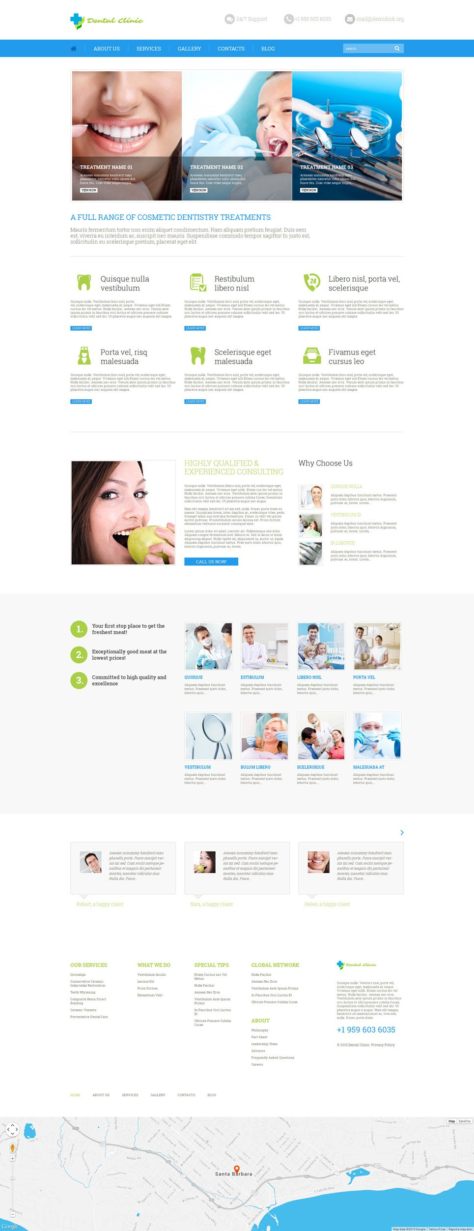 Адаптивный шаблон сайта на тему стоматология #52639