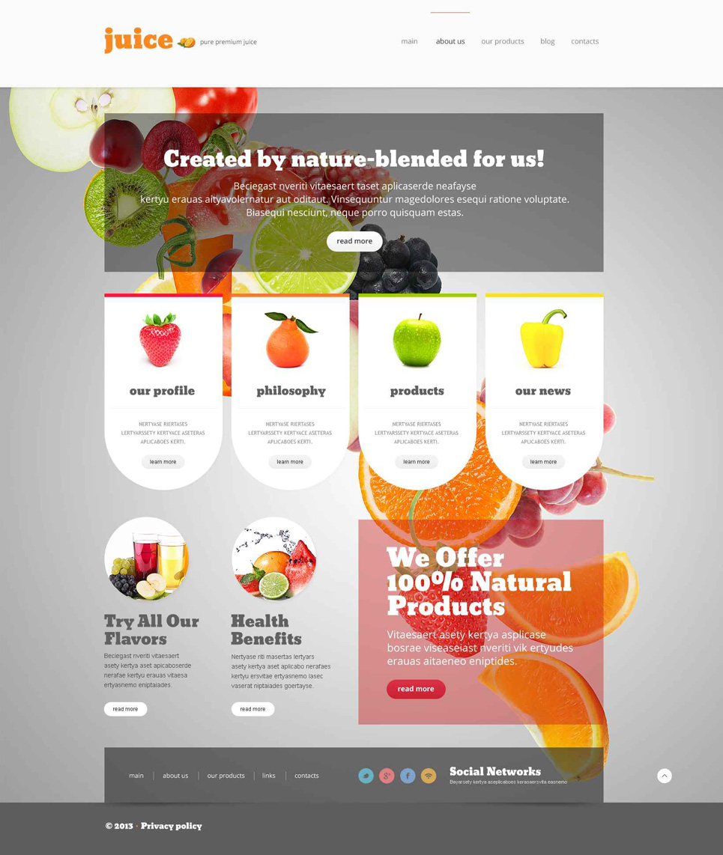 Адаптивный шаблон сайта на тему магазин еды #52695