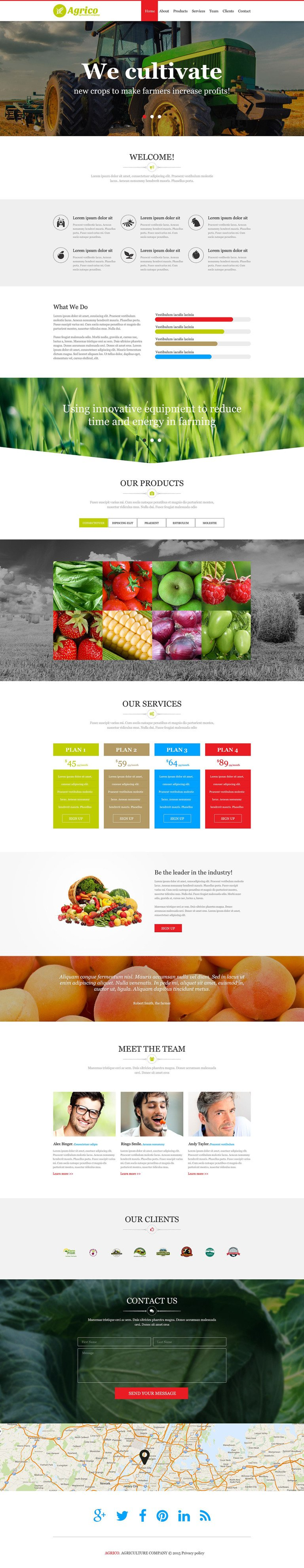 Agriculture Muse Template New Screenshots BIG