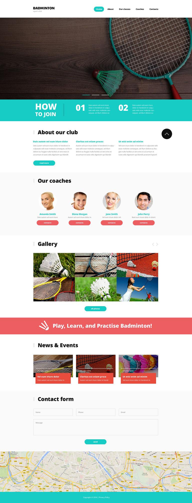 Badminton Responsive Website Template New Screenshots BIG