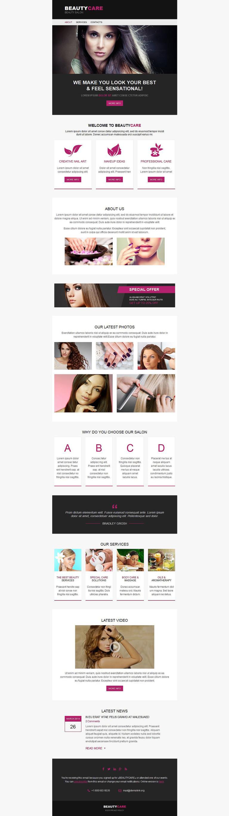 Beauty Salon Newsletter Template New Screenshots BIG