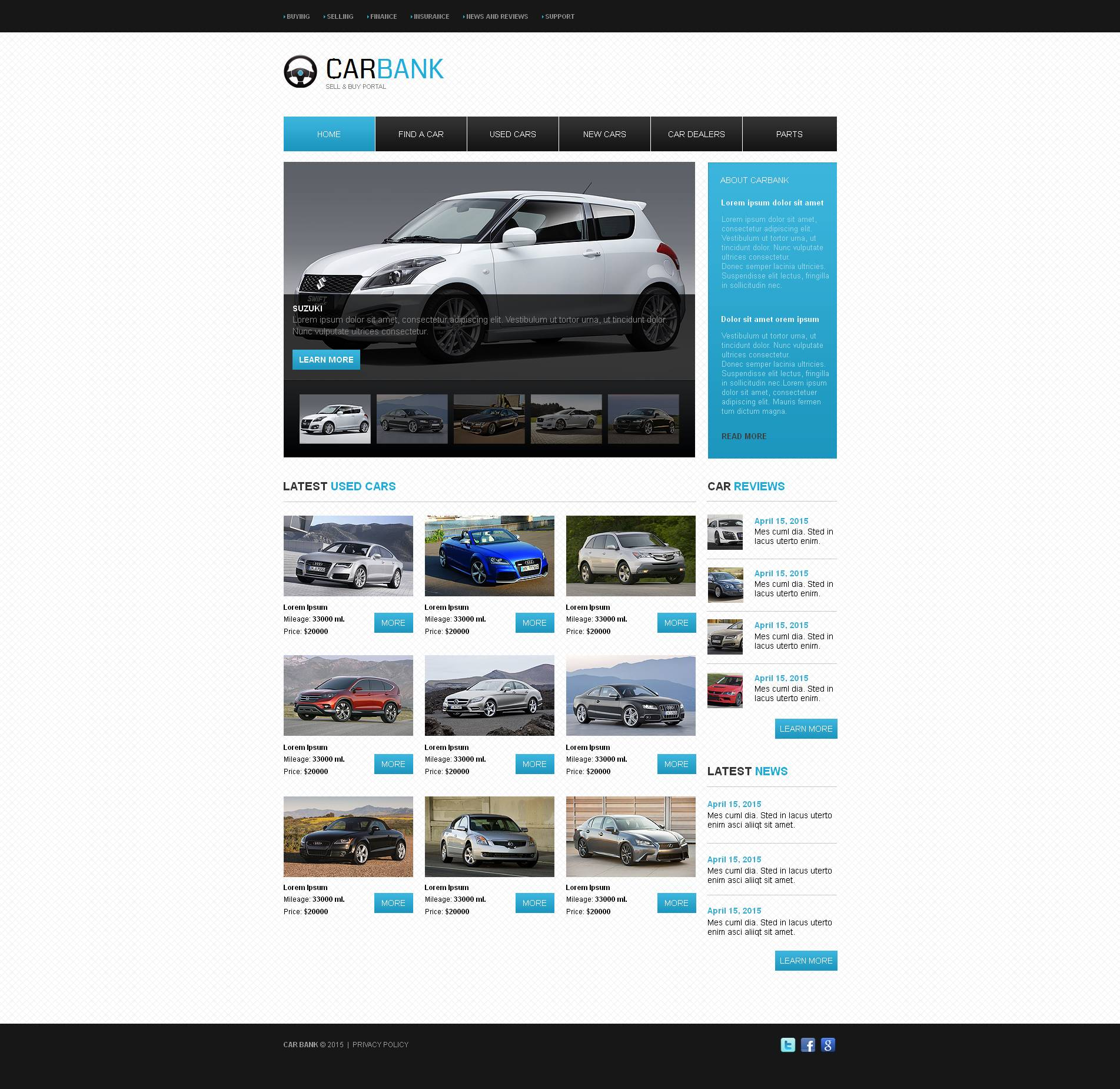Car Dealer Templates | TemplateMonster